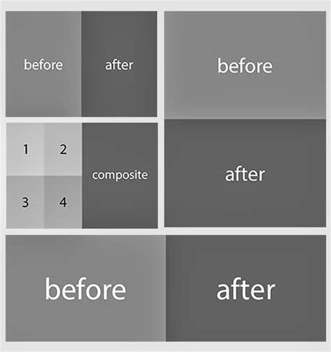 before and after template before after automated psd templates for adobe photoshop