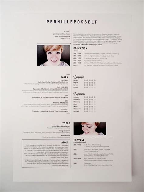 Graphically Appealing Resumes by 93 Best Cv Bewerbungsfoto Lebenslauf Images On