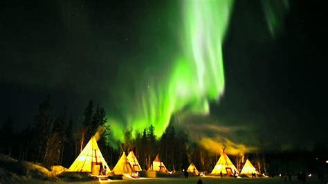 les aurores boreales  yellowknife territoires du nord