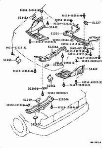 Toyota Corolla Damper  Rear Suspension Member  Body