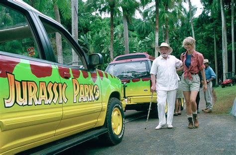 jurassic park tour car two decades later the dinosaurs of jurassic park still