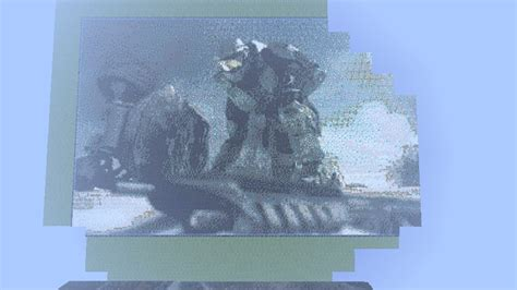 Halo 4 Pixel Art Minecraft Project