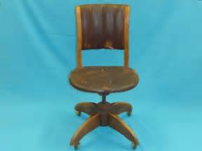 antique w h gunlocke leather swivel desk office chair ebay