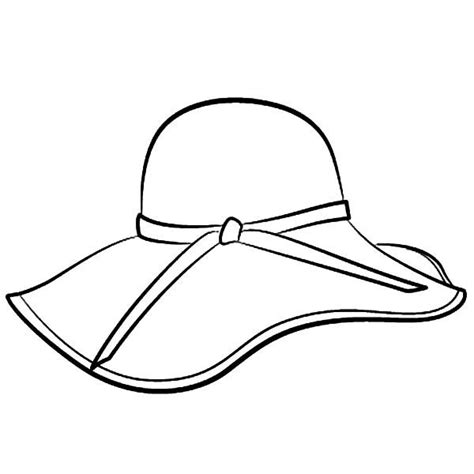 Coloring Hat by Floppy Hat Coloring Page Pattern Hat Template Hats