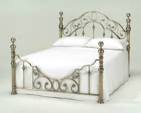 harmony florence antique brass metal bed frame antique