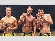 Australian Calendar Has Hot Firefighters Holding Puppies