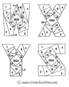 iris folding alphabet patterns google search iris