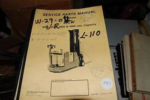 Yale Model Mcw 2000 2500 3000 Lbs Forklift Parts Manual