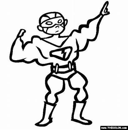 Coloring Superhero Costume Pages Halloween Printable Super