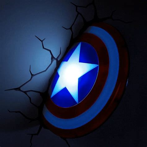 3d deco wall lights thinkgeek superheroes