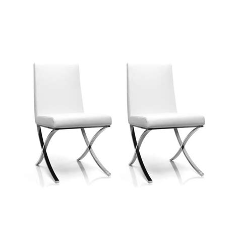 miliboo chaises miliboo lot de 2 chaises design polyuréthane achat