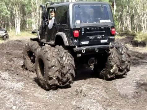 jeep mud jeep wrangler 4x4 mudding with special tires youtube