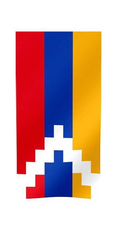Flag Artsakh Republic Vertical Flags Stepanakert