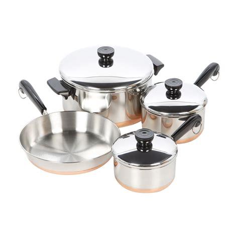 revere cookware   stainless steel  piece cookware set reviews wayfair