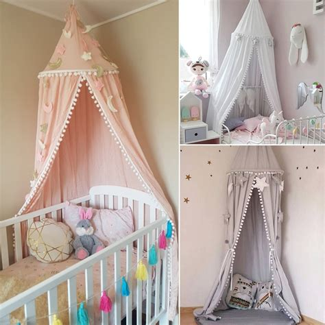 baby cot drapes bed canopy bed curtains princess dome