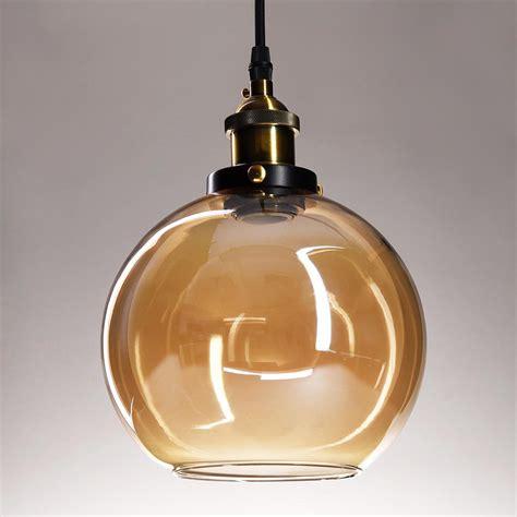 round glass pendant light vintage industrial glass ceiling pendant chandelier light