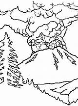 Volcano Coloring Eruption Pages Colouring Drawing Volcanoes Erupting Volcanos Template Netart Sheets Kilauea Last Trending Days Getdrawings Sketch sketch template
