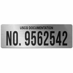 uscg documentation plaques archives vessel placards With uscg documentation number plaque