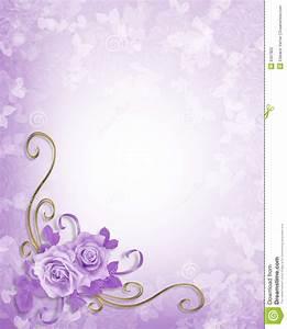 wedding roses lavender background stock illustration With wedding invitation background images purple
