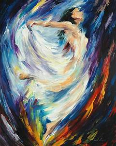 ANGEL OF LOVE — Palette knife Oil Painting on Canvas by ...