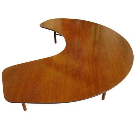 """I eat at half moon a couple of times a year. The """"Half Moon"""" coffee table designed by Greta Magnusson Grossman for Glenn of California ca ..."""