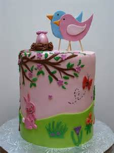 Baby Shower Cakes with Birds