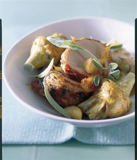 sauge cuisine recettes filet mignon et artichauts rôtis à la sauge pour 4