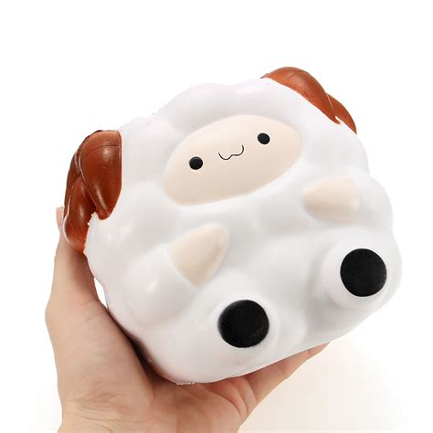 squishy jumbo sheep 13cm rising with packaging collection gift decor soft squeeze