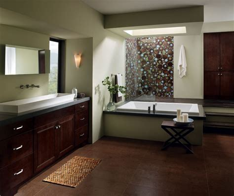 Cherry Bathroom Cabinets   Kemper Cabinetry
