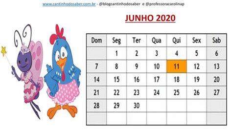 Calendário 2020 da Galinha Pintadinha Atividades para a