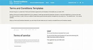 terms and conditions template generator free 2017 With terms and conditions template usa