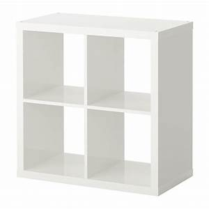 KALLAX Shelving unit High-gloss white 77x77 cm - IKEA