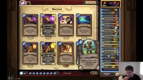 Warlock Zoo Deck August 2017 by Hearthstone Deck Design Mech Zoo Warlock Better Then Zoo