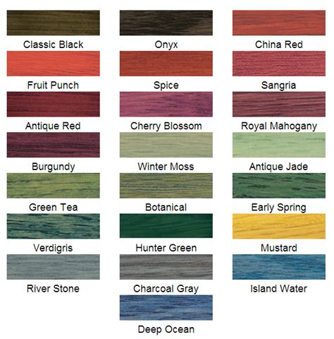 minwax stain colors wood stain color chart minwax search engine at