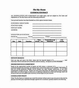 catering contract template 13 download free documents With catering contracts templates