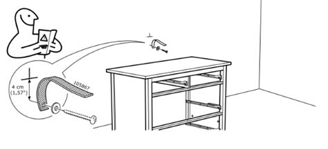 how to secure dresser to wall securing your furniture to the wall flat pack