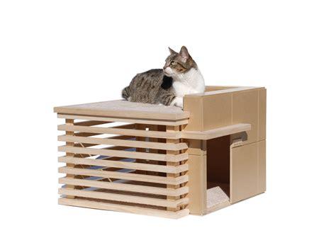 modern cat house modern cat furniture house made of paper