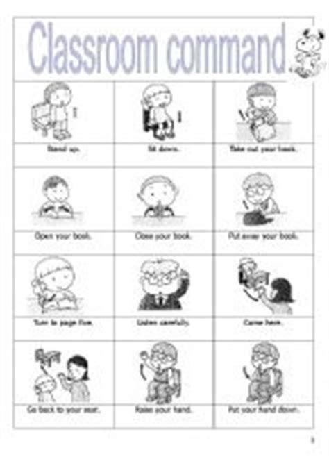classroom commands esl worksheet  mirror
