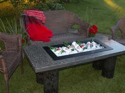 diy concrete table cooler for the home