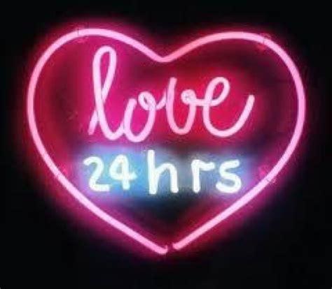 love heart pink neon aesthetic tumblr