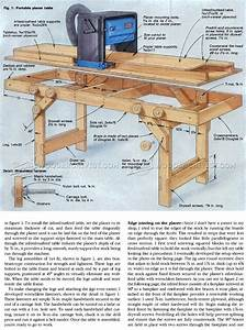 Portable Planer Table Plans • WoodArchivist