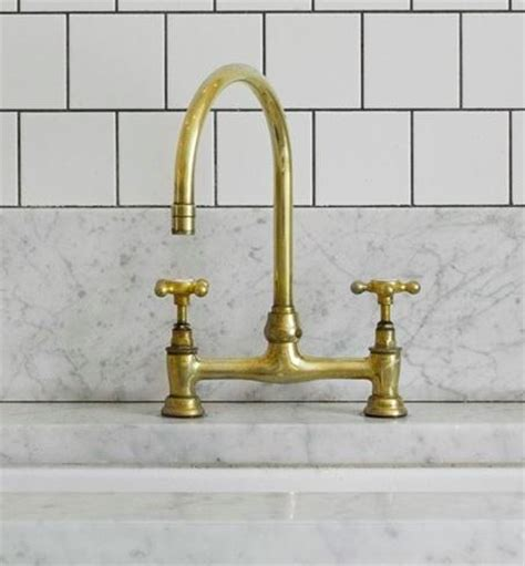 Unlacquered Brass Kitchen Faucet by Brass Bronze And Gold Trend In Home Interior Design