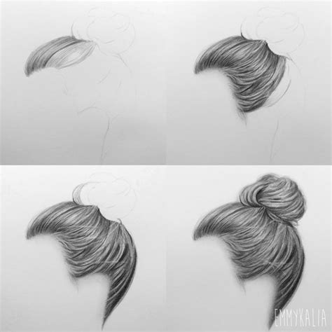 draw hair step  step image guides