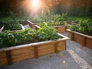 Bac Bois Potager : bac de jardinage en bois jardin jardins jardinage et jardin sur lev ~ Melissatoandfro.com Idées de Décoration