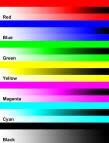 Color Printer Test Page