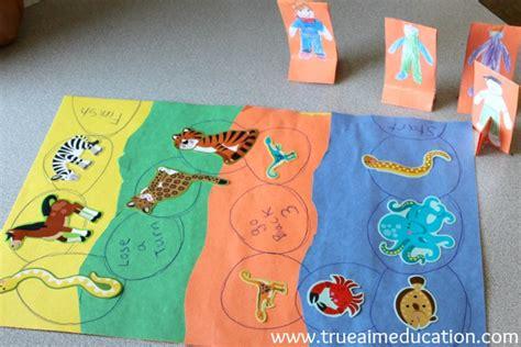 animal activities for animal habitats true aim 682 | animal activities for kid diy board game