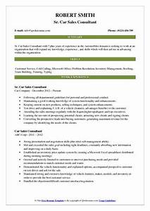 Car Sales Consultant Resume Samples