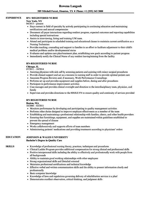 Registered Resume Sles by Rn Registered Resume Sles Velvet