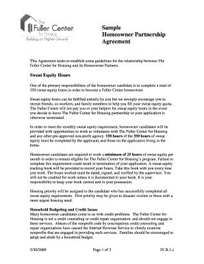 Partnership Agreement Forms And Templates Fillable