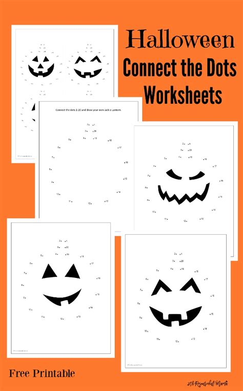 connect the dots worksheets the resourceful 190 | halloween connect the dots pin image